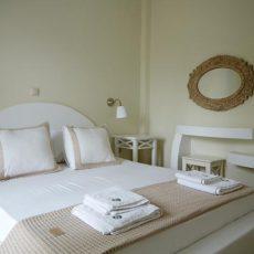 Bedroom at Aelia with minimal interior